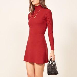 Reformation Maya Dress Cherry Size XS